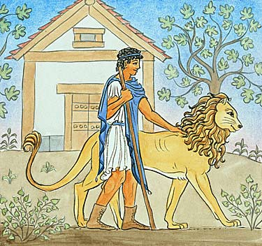 interior illustration: Adroclus and his Lion
